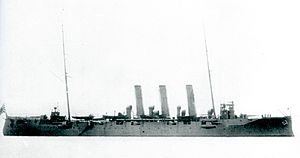 Japanese cruiser Tsushima in 1905.jpg