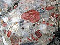 Jasper-quartz pebble conglomerate (Lorrain Formation, Paleoproterozoic, ~2.3 Ga; Ottertail Lake Northeast roadcut, near Bruce Mines, Ontario, Canada) 20 (47656349292).jpg