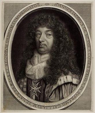 Antoine Masson - Portrait of Jean-Jacques de Mesmes, 1683