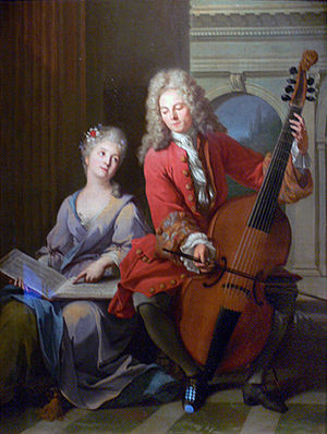 Music lesson - Jean-Marc Nattier, The music lesson, (1711)