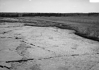 Jeffers Petroglyphs - Jeffers Petroglyphs looking South East. Image is from a Historic American Buildings Survey (Library of Congress), April, 1990