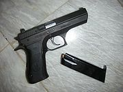 Jericho 941 F (DA), 9 mm with magazine removed