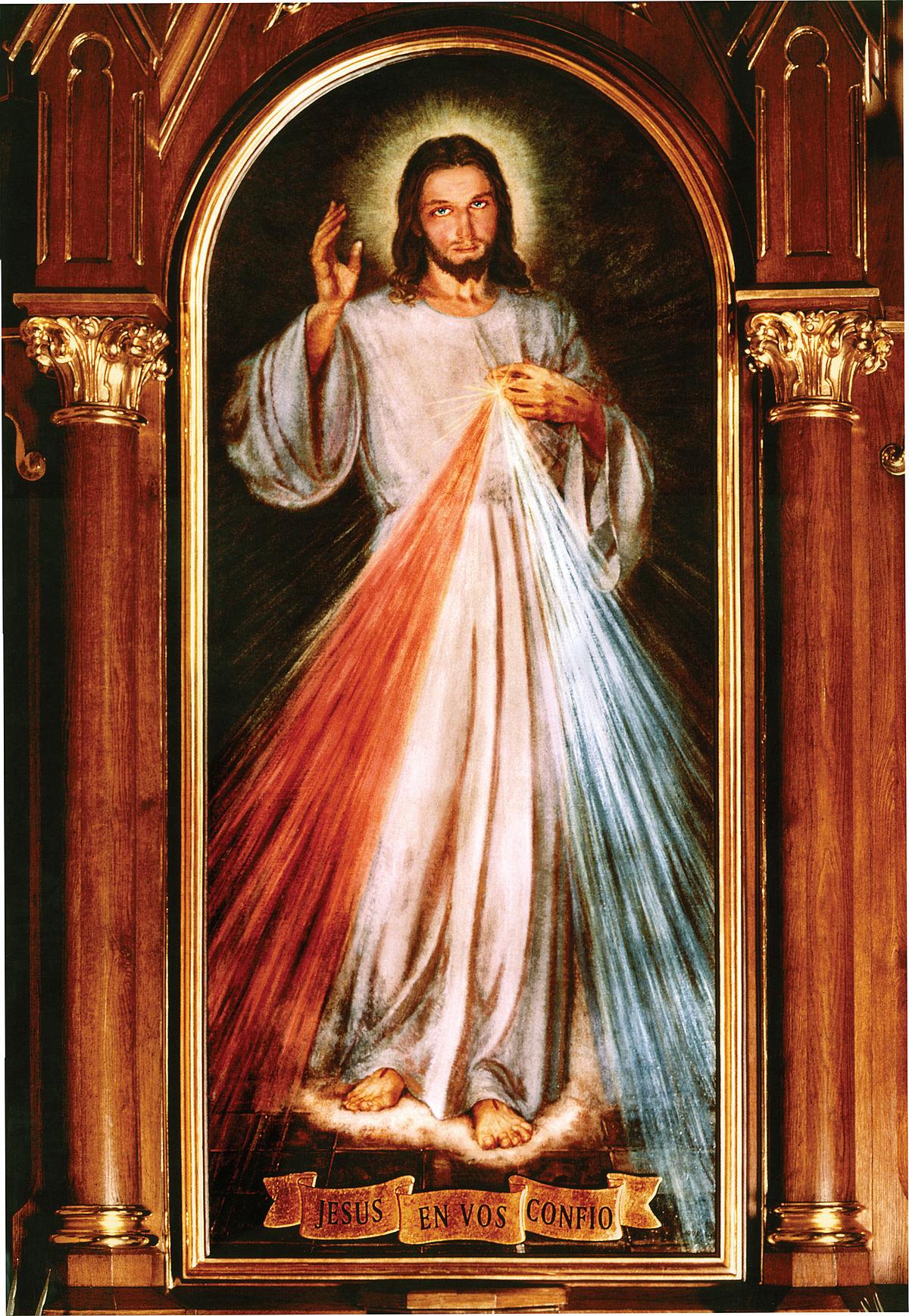 Gesù Divina Misericordia stampa a COLORI 8x10 NUOVO fede cattolica ho fiducia in te