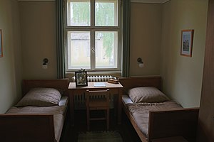 Jesse Owens - Jesse Owen's room in the 1936 Olympic Village in Berlin as seen today.
