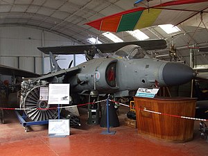 Norfolk and Suffolk Aviation Museum - Sea Harrier on display
