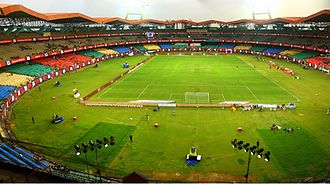 2016 Indian Super League Final - Image: Jewaharlal Nehru Stadium Kochi ISL