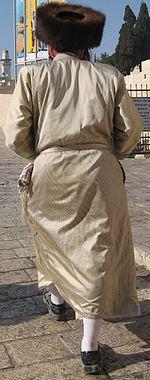 b25cf1bfb53cbc Hasidic Jew wearing a shtreimel (fur hat), Jerusalem