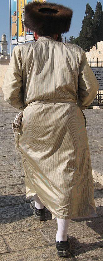 Shtreimel - Hasidic Jew wearing a shtreimel (fur hat), Jerusalem