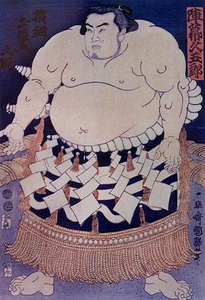 Jinmaku Kyūgorō - Woodblock print of Jinmaku