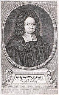 Johann Joachim Lange German philosopher and theologian