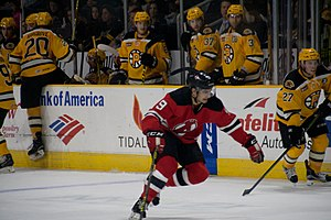 Joseph Blandisi - Blandisi during his tenure with the Albany Devils.