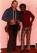 Joe Bowman and Sammy Davis Jr Houston 1969