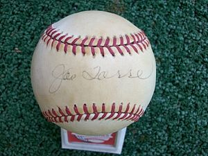 My treasured memory - my baseball signed by Jo...