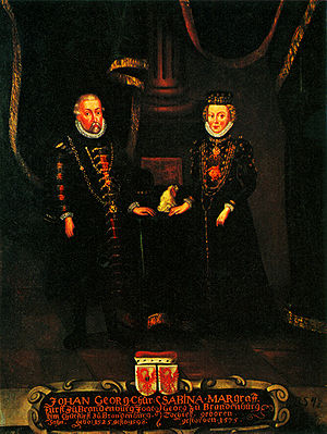 John George, Elector of Brandenburg - John George and his second consort, Sabine of Ansbach
