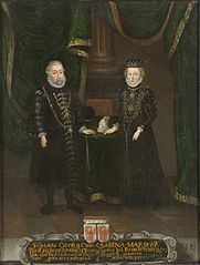 Johan Georg, 1525-1598, kurfurste av Brandenburg. Sabina, 1529-1575, av Bayteuth