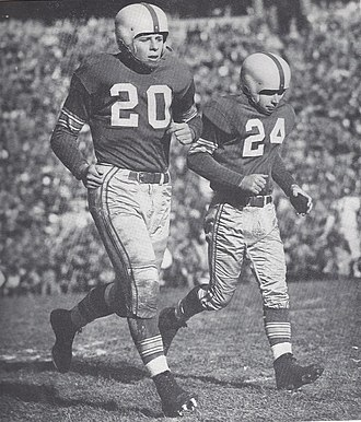 1954 Ohio State Buckeyes football team - Team co-captain John Borton (20) and Tad Weed in 1952