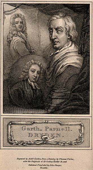 File:John Dryden, Samuel Garth, and Thomas Parnell. Engraving by Wellcome V0006790.jpg