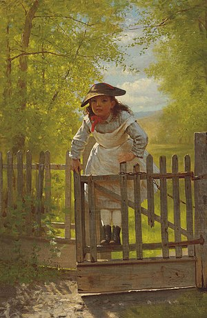 Tomboy - The Tomboy, 1873 painting by John George Brown.