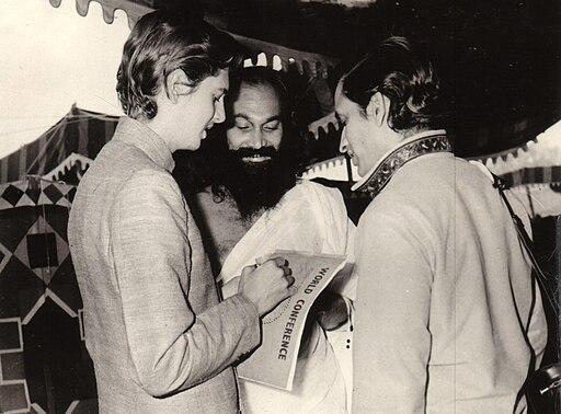 John Hills with Dhirendra Bramachari and Amrit Desai