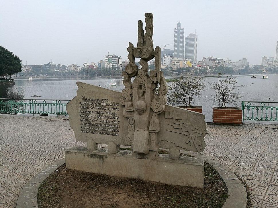 John McCain monument at Tr%C3%BAc B%E1%BA%A1ch Lake, Hanoi, VN