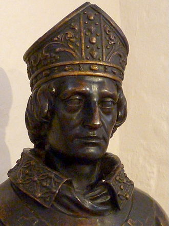 Stephen Langton - Plaster maquette of Stephen Langton by John Thomas at Canterbury Heritage Museum