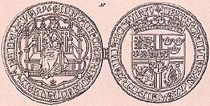 John, King of Denmark - Noble minted for John. The reverse shows his full royal coat of arms.