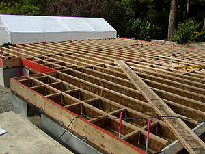 I-joist - A partially constructed floor built with I-joists