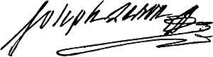 Joseph Le Bon - Joseph Le Bon signature