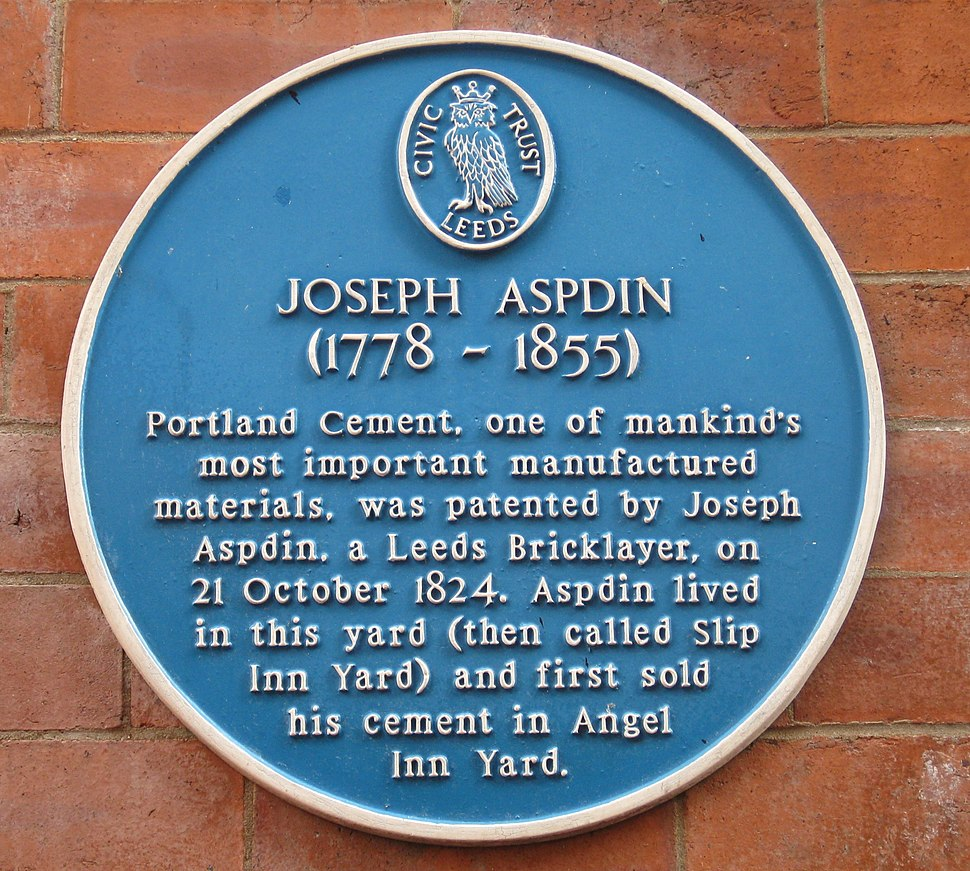Joseph Aspdin plaque 7 Sep 2017