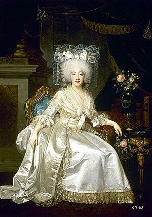 Marie Joséphine of Savoy - Image: Joseph Boze en collaboration avec Robert Lefèvre, Portrait de Marie Joséphine Louise de Savoie, comtesse de Provence (1786)
