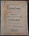 Joseph Hollman, muziekuitgave Chanson d'Amour, opgedragen aan Christine Nilsson, boekencollectie Centre Céramique, Maastricht.JPG