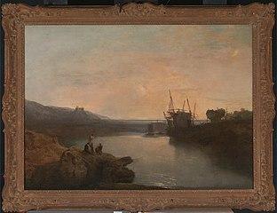 Harlech Castle, from Tygwyn Ferry, Summer's Evening Twilight