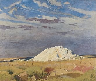 Attacks on the Butte de Warlencourt - Image: Jpg The Butte de Warlencourt Art.IWMART2973