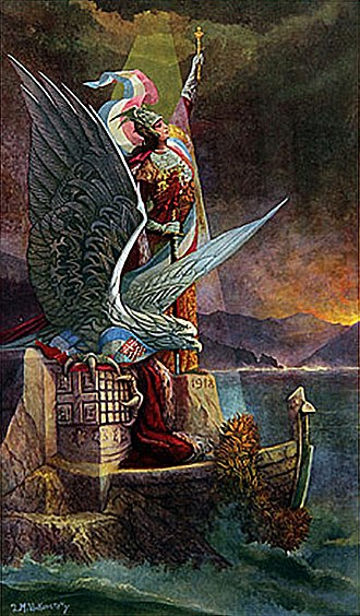 Creation of Yugoslavia - Yugoslavia at the Adriatic, patriotic art.
