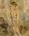 JulesPascin-1928-Sitting Girl with Chemise.png