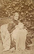 Julia Stephen with her first child of her second marriage, Vanessa, in 1879