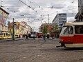 Křižovatka Anděl, Tatra T3SUCS z profilu.jpg