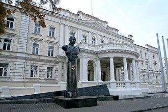 Jonas Žemaitis - Jonas Žemaitis Monument in front of the Ministry of National Defence, Vilnius.