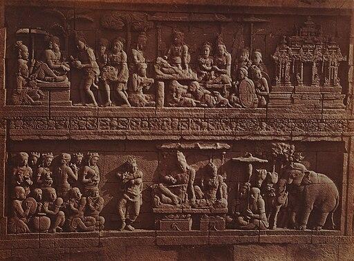 KITLV 90016, Borobudur relief, dancer with orchestra