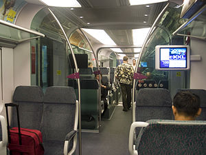 KLIA Ekspres - KLIA Ekspres carriage interior