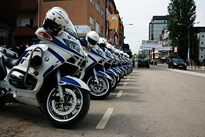 Kosovo Police - The motorcyclists unit