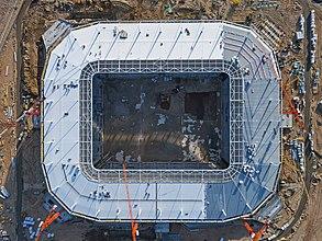 Az épülő Kalinyingrád Stadion felülnézetből (2017) (Kalinyingrád, Oroszország)