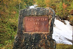 Kalvebakken bru (1911) - Road sign.JPG