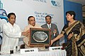 Kamal Nath presenting the Lifetime Achieve Award to Ms. Nirupa Bhatt on the occasion of the 34th Annual Awards Function of Gem & Jewellery Export Promotion Council (GJEPC), in New Delhi on October 05, 2007.jpg