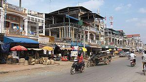 Straße in Kampot