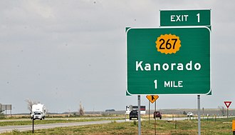 Interstate 70 in Kansas - Interstate 70 in Kansas, Exit 1, Kanorado