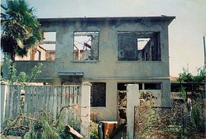 Meliton Kantaria - Meliton Kantaria House in Ochamchire, Abkhazia, destroyed during the fighting