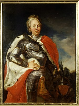 Charles III William, Margrave of Baden-Durlach -  Margrave Charles III William of Baden-Durlach from a painting by Johann Rudolf Huber