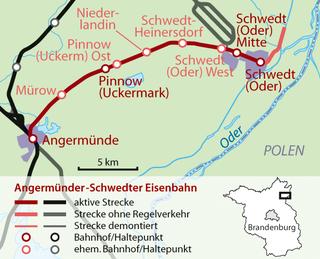 Angermünde-Schwedt railway German railway line