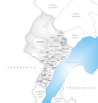 Begnins - Image: Karte Gemeinde Begnins